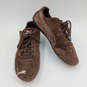 Vintage Puma speed cat suede / damask sneakers